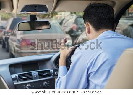 Jovem asiático furioso empresário gritando homem de negócios Foto stock © RAStudio