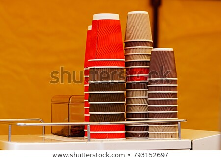 multicolored paper cups for baking muffins stock photo © cipariss