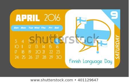 9 April Finnish Language Day Stock photo © Olena