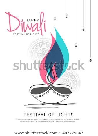 Diwali vente bon lumineuses couleurs résumé Photo stock © SArts