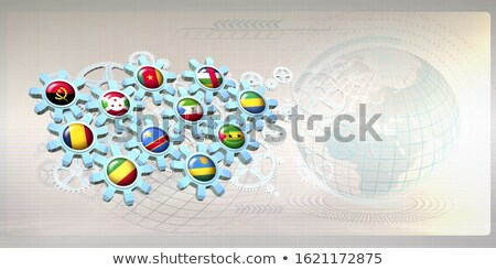 gear wheel and flag of gabon Stock photo © drizzd