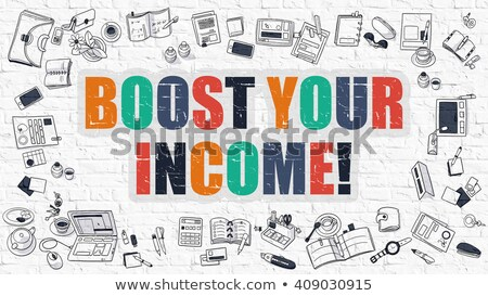 Boost Your Income in Multicolor. Doodle Design. Stock photo © tashatuvango