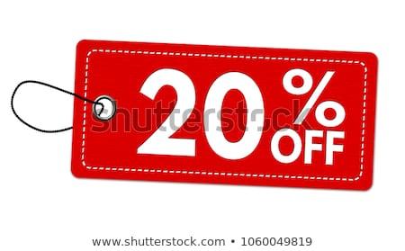 3D · красный · 20 · двадцать · процент · белый - Сток-фото © oakozhan