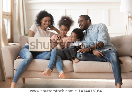 Man having various emotions talking on phone Stock photo © ichiosea