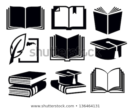 black and white standing books stock photo © romvo