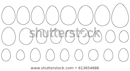 Stock photo: Various egg shapes vector icon isolated on white