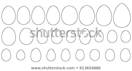 壊れた · 卵 · 定型化された · 実例 · 影 · イースター - ストックフォト © nikodzhi