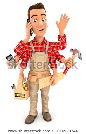 3d handyman multitasking Stock photo © 3dmask