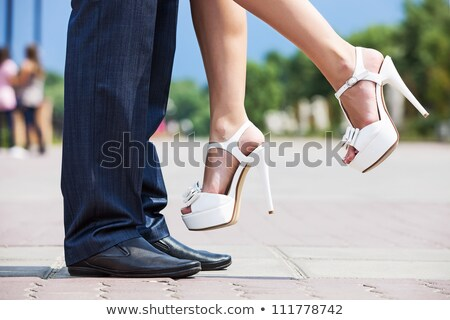 幸せ 若い男 女性 白 ストックフォト © feedough