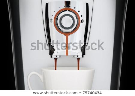 Fronte view moderno automatico espresso Foto d'archivio © TanaCh