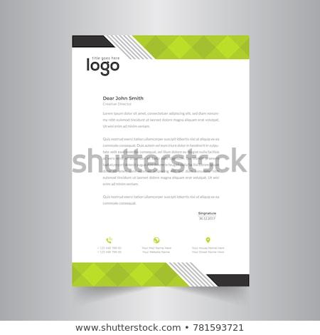 Stylish blau Vektor Briefkopf Design drucken Stock foto © SArts