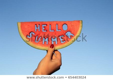 Hello summer Holiday concept stock photo © Lana_M