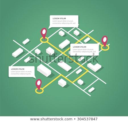 vector · isometrische · stad · navigatie · icon · laag - stockfoto © sidmay