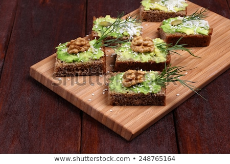 Walnuts  on a cutting board. Healthy food concept Stock photo © Valeriy