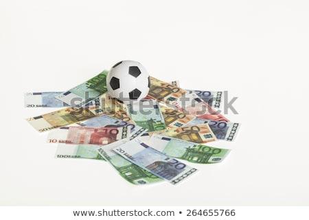 Futball rajz férfi célzás fej sport Stock fotó © blamb