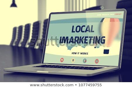 Lokaal laptop 3D landing Stockfoto © tashatuvango