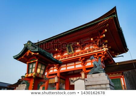 Geschenken kyoto Japan heiligdom bos Rood Stockfoto © daboost