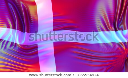 Denmark LGBT flag. Danish Symbol of tolerant. Gay sign rainbow Stock photo © popaukropa