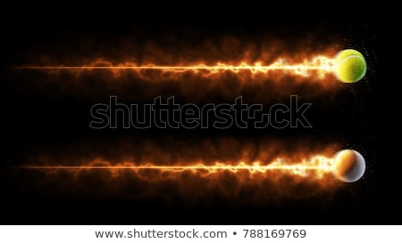 baseball · tűz · repülés · fekete · vektor · háttér - stock fotó © angelp