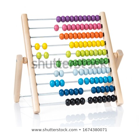 A Colourful Abacus on White Background Stock photo © bluering