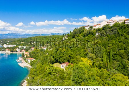 turkuaz · plaj · görmek · ada · Hırvatistan · şehir - stok fotoğraf © xbrchx