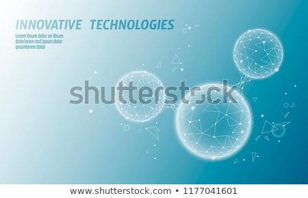 blue technology wire mesh design stock photo © sarts