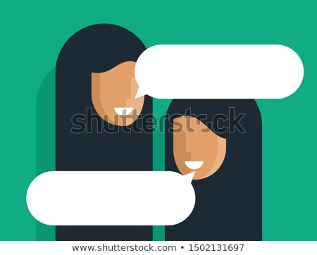 Arap başörtüsü stil kutu kadın çocuklar Stok fotoğraf © toyotoyo