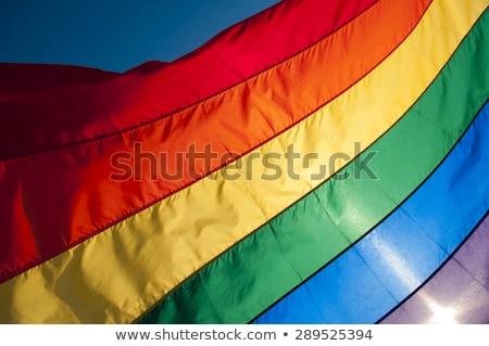 Primo piano Rainbow bandiera full frame colorato abstract Foto d'archivio © AndreyPopov