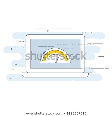 Web page loading speed test icon - site performance optimization Stock photo © gomixer