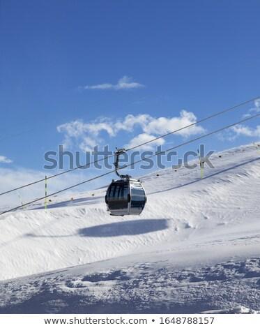 кабеля · автомобилей · лыжных · курорта · небе · спорт - Сток-фото © bsani
