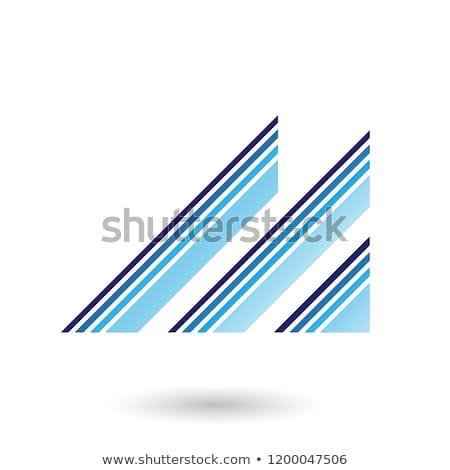 Azul letra m diagonal retro vetor Foto stock © cidepix