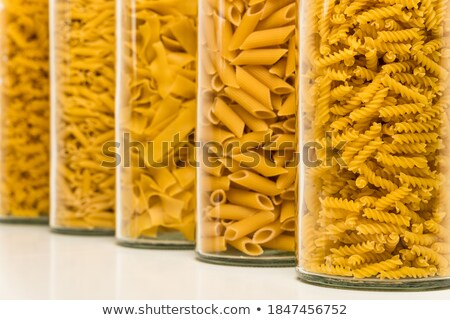 Box filled with assorted macaroni Stock photo © dash