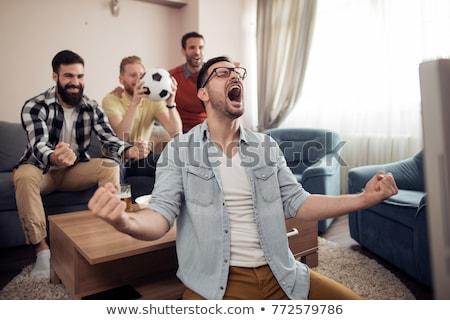 Fútbol aficionados viendo fútbol juego tv Foto stock © dolgachov