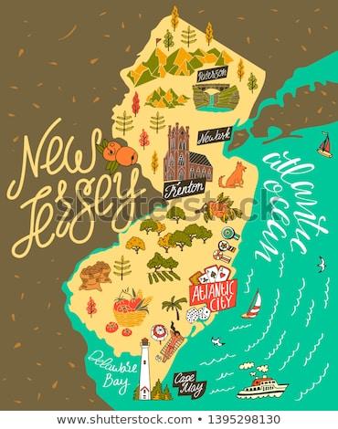 Cartoon New Jersey illustration souriant graphique Amérique Photo stock © cthoman