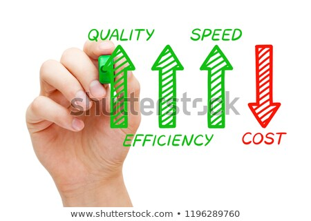 Increased Quality Efficiency Speed Decreased Cost Stock photo © ivelin