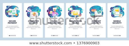 security access card app interface template ストックフォト © rastudio