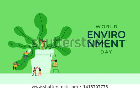 Nature Conservation and People Vector Illustration Stock photo © robuart