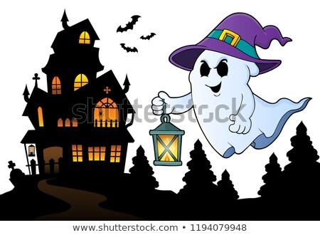 voador · fantasma · ilustração · branco · festa · cara - foto stock © clairev