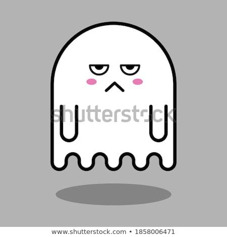 Cartoon Ghost Bored Stock photo © cthoman