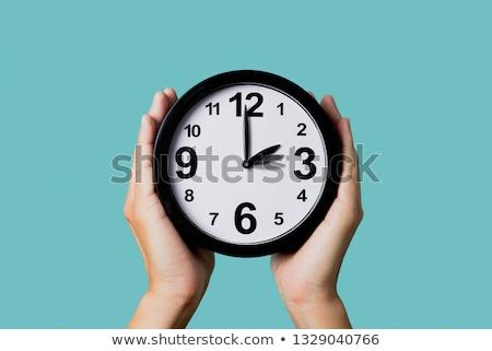 Klok achterwaarts vooruit een uur Stockfoto © nito