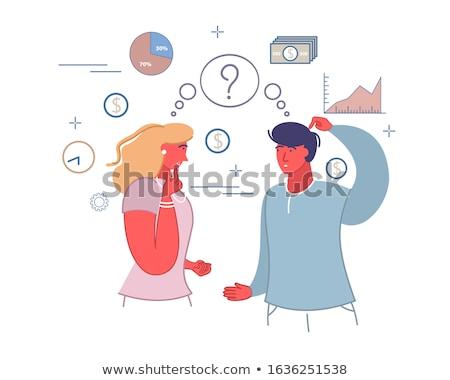 family financial plan web vector illustration stock photo © robuart