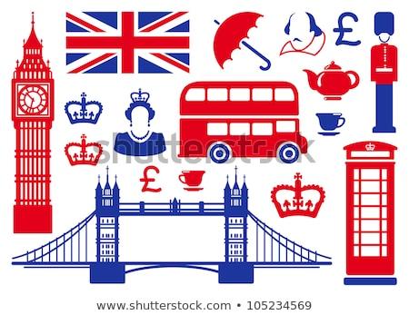 Londra · Tower · Bridge · web · ayarlamak · toplama · Tac · Mahal - stok fotoğraf © robuart