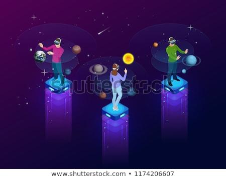 astronaut in virtual reality, vr glasses Stock photo © studiostoks