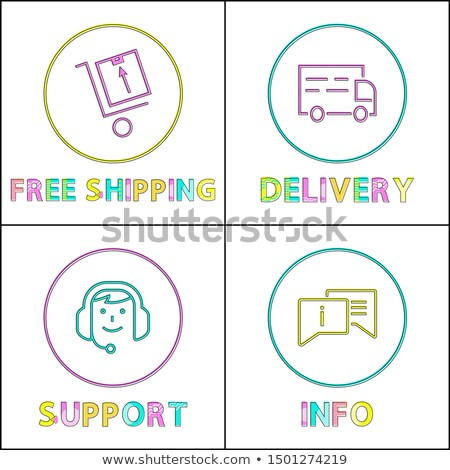purchases delivety terms icon set in linear style stock photo © robuart