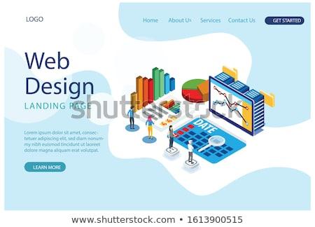 Internationale bedrijfsleven moderne isometrische vector web banner Stockfoto © Decorwithme