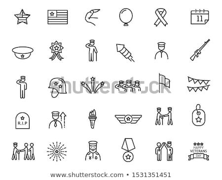 Nap ikon naptár amerikai zászló renderelt kép 3d illusztráció Stock fotó © Oakozhan