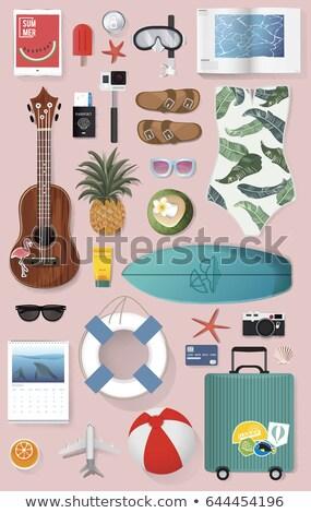доска для серфинга лет икона иллюстрация дизайна графического дизайна Сток-фото © svvell