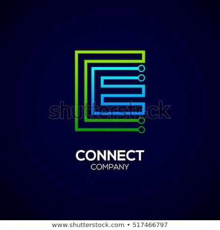 letter e logo electronics circuit icon vector Stock photo © blaskorizov