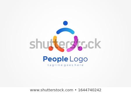 Insanlar üçgen ortak logo imzalamak Stok fotoğraf © blaskorizov