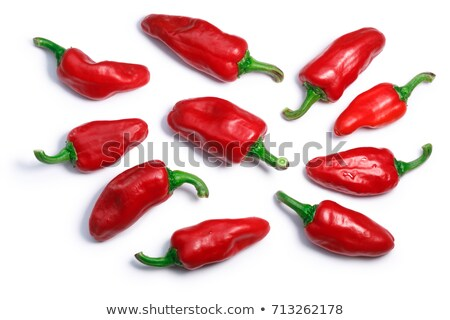 Gorria Espelette short peppers, paths, top view Stock photo © maxsol7
